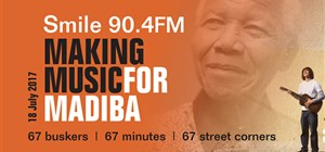 Author participates in making music for Madiba today!